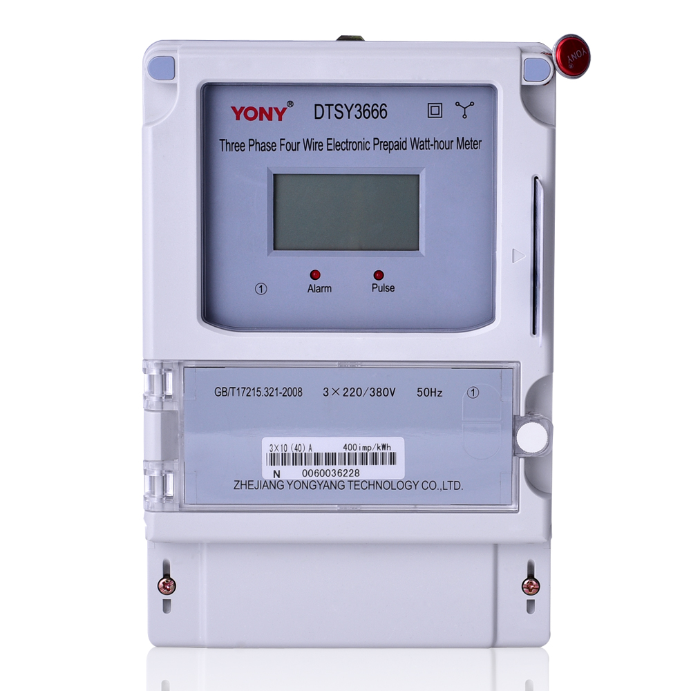 Three-phase prepaid meter