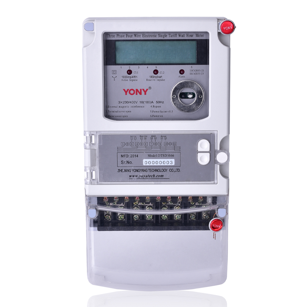 Three-phase multi-function watt-hour meter